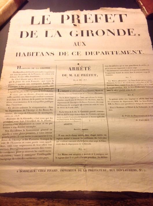 Affiche Préfet Gironde 1