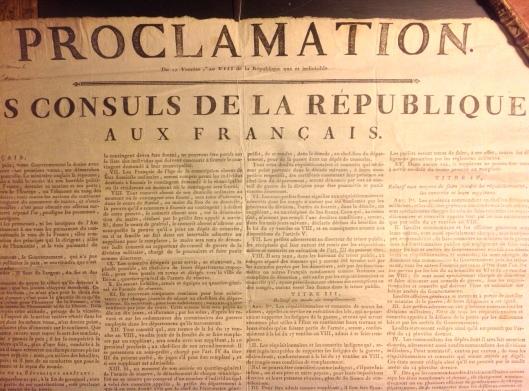 Affiche proclamation ventôse 1