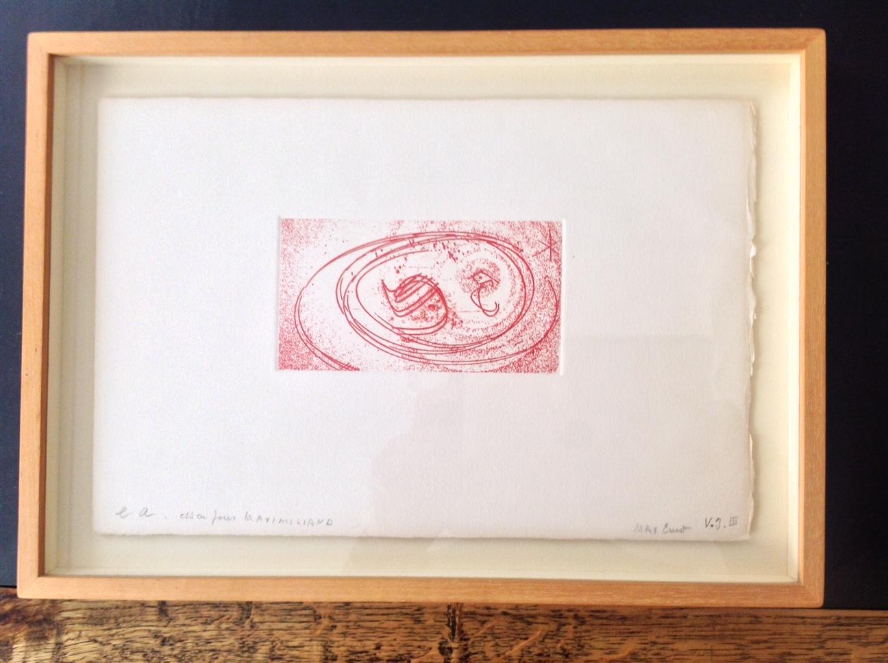 Max Ernst – Essai pour Maximiliana, épreuve d\'artiste signée ...