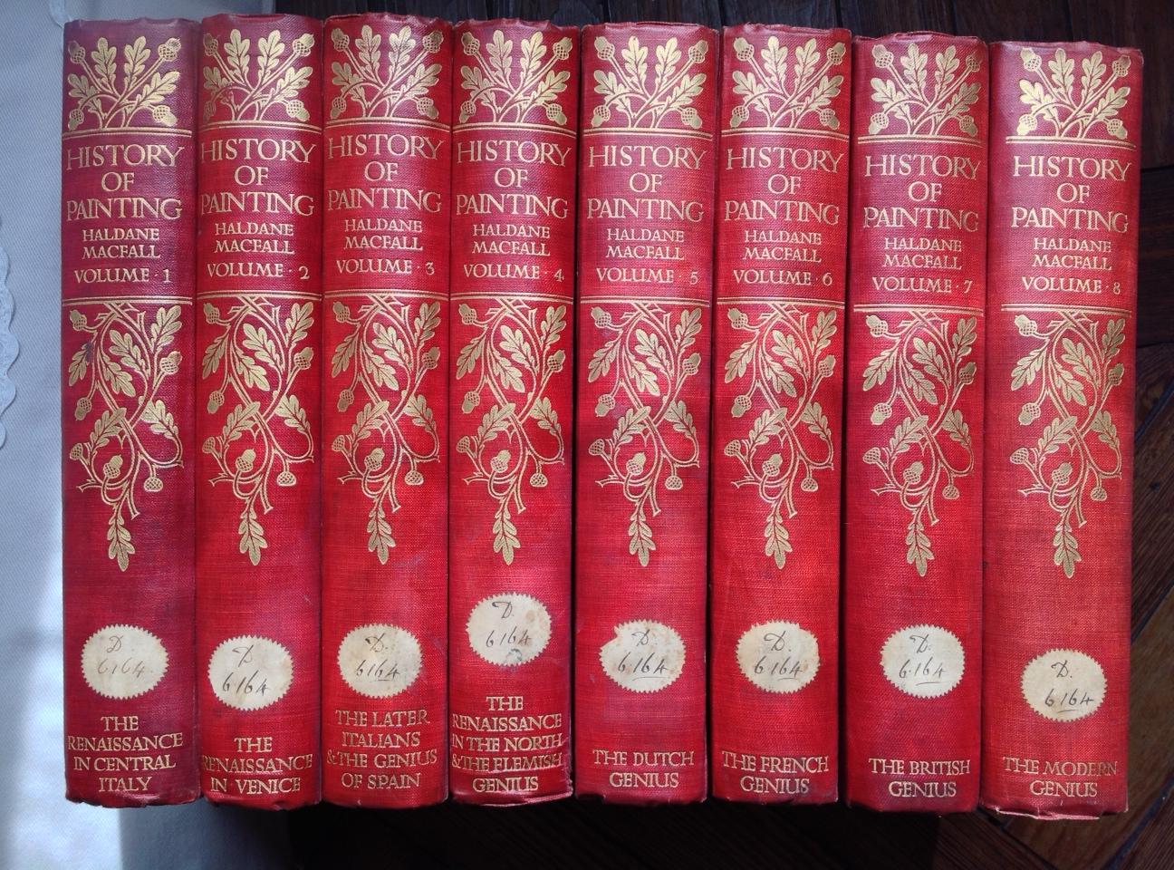 A History Of Painting 8 Volumes Complets London Edinburgh T C And E Jack 1911 1ere Edition 215 X 29 Huit In 4 Reliure Pleine Toile